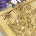 Beads, Auralescent Crystal, Crystal, Grey , Faceted Bicones, 6mm x 6mm x 5mm, 10 Beads, [ZZC179]